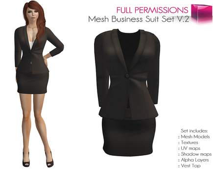 Full Perm Rigged Mesh Sexy Business Suit - Fashion Kit