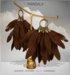 [MANDALA]Leather Feather earring/Brown (WEAR ME)