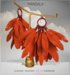 [MANDALA]Leather Feather earring/Orange (WEAR ME)