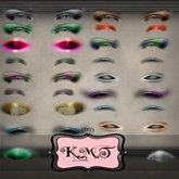 .:::K,M,T:::. Skin Makeup Creators Eyeshadow Glee Set Of 42