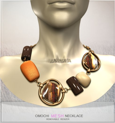 [MANDALA]Omochi necklace/Brown(WEAR ME)