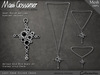 Necklace - Lost Eden Silver Cross With Jet Stones