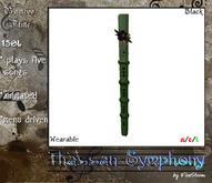*FS* Bamboo Flute black flowered