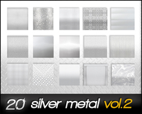 20 silver metal textures FULL PERM vol.2