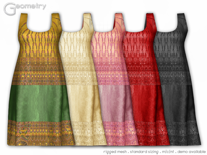 <Geometry> Chandira ( rigged mesh in standard sizing ) 5 Color Set