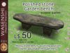 Polished Stone Garden bench