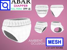 ABAR - AV013 MESH DIAPER / BABY / CHILD / KID - MESH- AMBIENT OCLUSION  - Full Perm