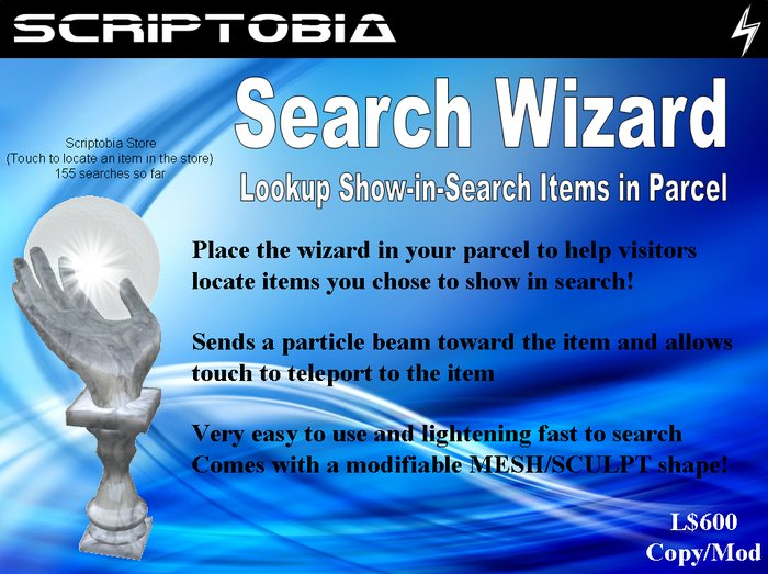 "Search Wizard (Locate ""Show in Search"" Items in Parcel)"