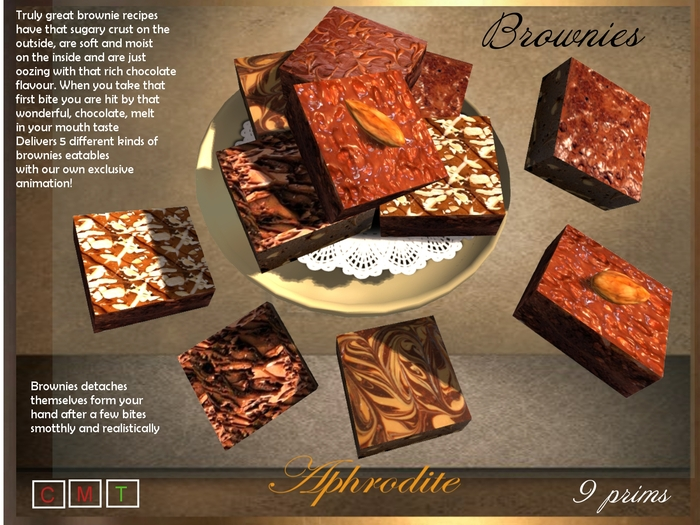 Aphrodite Brownies platter- 5 different brownies flavors!