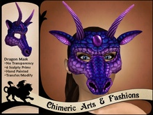 Sculpty Dragon Mask (Purple)