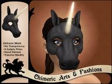 Unicorn Mask (Black)