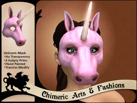 Unicorn Mask (Pink)