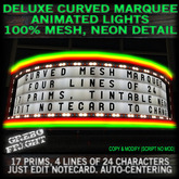 Curved Marquee Programmable Animated Mesh Sign