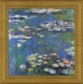 Framed Waterlillies with Back