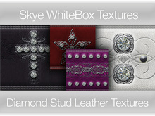 **Skye WhiteBox Textures  Big Value! 152 Diamond Stud Leather-  Full Perms Leather Textures