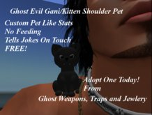 Dollarbie Evil Giani /Cat Shoulder Pet