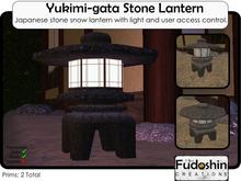 Japanese Stone Garden Lamp - Yukimi-gata Stone Lamp