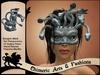 Gorgon / Medusa Mask (Grey)