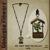 CONCRETE FLOWERS- MY OWN TREE NECKLACE  -spring-