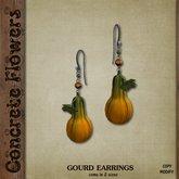 CONCRETE FLOWERS- GOURD EARRINGS