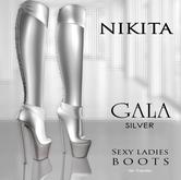 NIKITA :: GALA boots silver