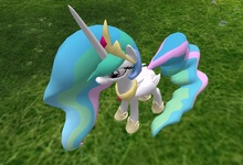 AMU - Rideable Princess Celestia!