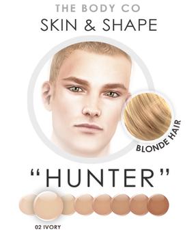 "(the body co) SKIN+SHAPE ""Hunter"" (02 Tone/Blonde Hair) Male"