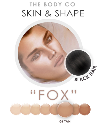 "(the body co) SKIN+SHAPE ""Fox"" (06 Tone/Black Hair) Male"