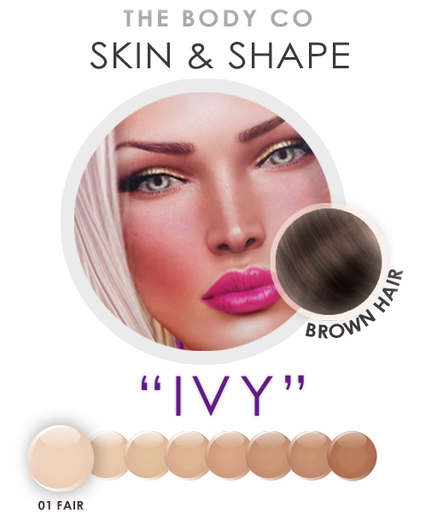 "(the body co) SKIN+SHAPE ""Ivy"" (01 Tone/Brown Hair) Female"