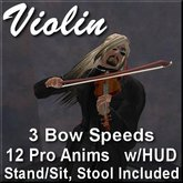 Violin.  HUD Controlled, Animated