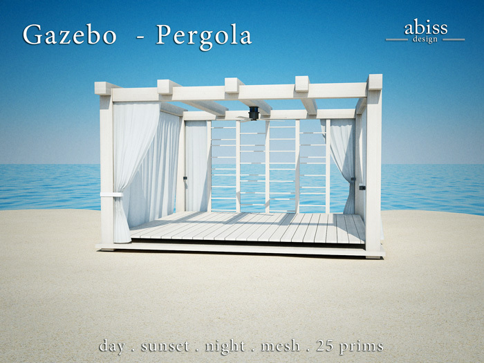 Abiss Design Gazebo - Pergola - rectangle modern pavilion structure