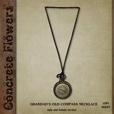 CONCRETE FLOWERS- GRANDAD'S OLD COMPASS NECKLACE
