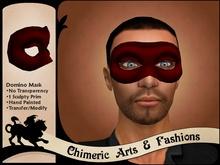 Dark Domino Mask (Red)