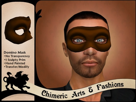 Dark Domino Mask (Brown)