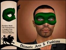 Dark Domino Mask (Green)