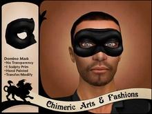 Dark Domino Mask (Black) (Sculpty)