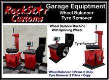 GARAGE TYRE BAY EQUIPTMENT BOXED