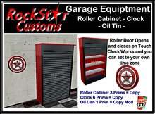 GARAGE ROLLER CABINET - CLOCK BOXED