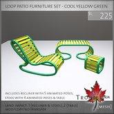 Trompe Loeil - Loop Patio Furniture Set - Cool Yellow Green [mesh]