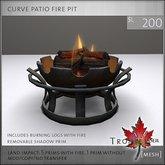 Trompe Loeil - Curve Patio Fire Pit [mesh]