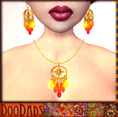 DooDads - Fire Drop Necklace & Earrings