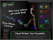 ●GD● Foot Prints 'Ice Crystals' [Multi Color, Walk/Fly/Dance] Customizable Paw Prints Walking Effect