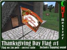 *TGA* Thanksgiving Flag #1 5m w/sound & resizer COPY