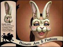 Antique Rabbit Mask (White)