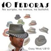 10 Fedoras