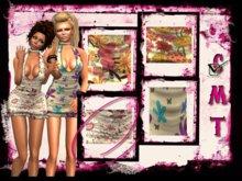 ::Sweet Intoxication:: Bella Mesh Dress ~ White/Pink