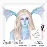 Aquatic Head or Dragon Head Fins by Material Squirrel  MESH