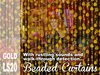 Scripted Gold Beaded Curtains