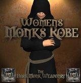 DMW Womens Mesh Monk Robe Set - Black