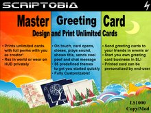 Master Greeting Card (prints full-perm cards showing you as creator)